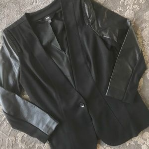 Mossimo blazer with faux leather sleeve - large
